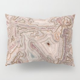 Crazy Lace Agate Mineral Pillow Sham