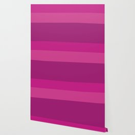 CERISE & PINK 3-TONE (Horizontal stripes) - Mix & Match Wallpaper