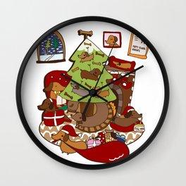 Weiner Christmas Wall Clock