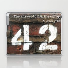 42 - The Meaning of Life. Laptop & iPad Skin