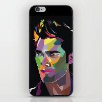derek hale iPhone & iPod Skins featuring Derek Hale Mosaic Portrait by Liz Swezey