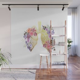 Floral Lungs Anatomy  Wall Mural