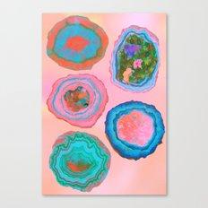 Glowing Geo Canvas Print