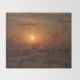 Three Sun SunSet Throw Blanket