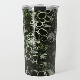 Lichen, organic abstract nature photography Travel Mug