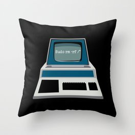Sudo rm | Linux Terminal Coding Throw Pillow