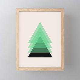 Abstract #18 Green, Black and Beige Framed Mini Art Print