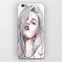 sky ferreira iPhone & iPod Skins featuring Sky Ferreira  by Asquared2Art