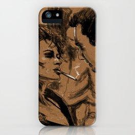 Marla & Tyler doodle iPhone Case