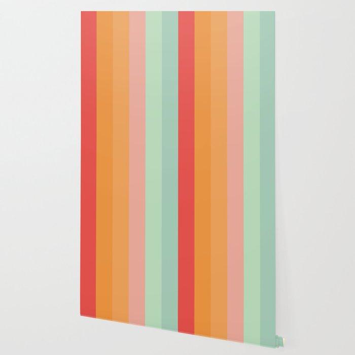Vintage Rainbow Wallpaper