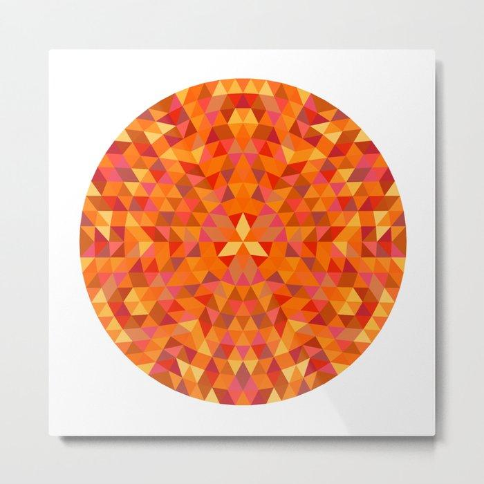 Triangle Sun Mandala Metal Print