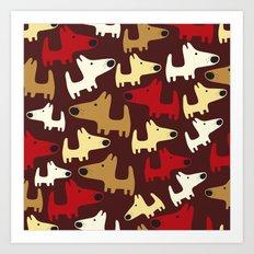 Piles of Puppies Art Print