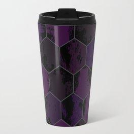 Honey Combs Texture Purple Travel Mug