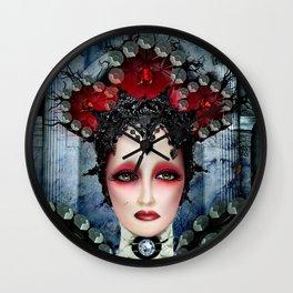 Portrait of Mina Wall Clock