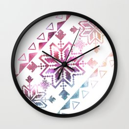 Neo-Ro Pattern Wall Clock