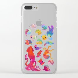 Cephalopod - pastel Clear iPhone Case