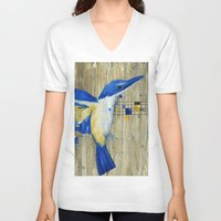 technology V-neck T-shirts featuring The Thing with Technology... by Amy Taylor