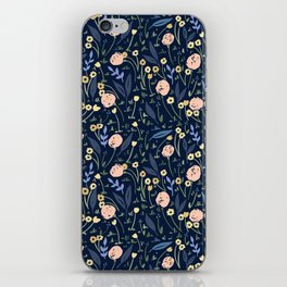 Ditsy Floral Blue and Pink Pattern iPhone Skin