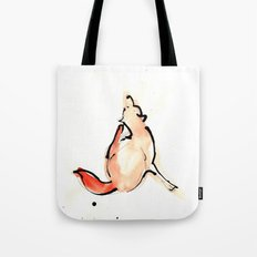Scratchy Fox Tote Bag