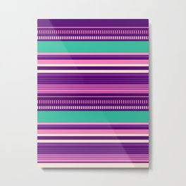 Purple Stripes Pattern Metal Print