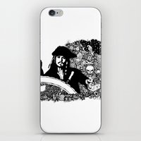 jack sparrow iPhone & iPod Skins featuring Jack Sparrow by Ink Tales