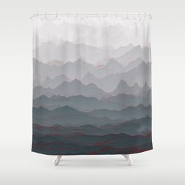 Mountains of Madness I Shower Curtain