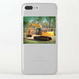 Heavy machinery working! Clear iPhone Case