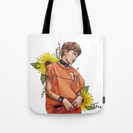 haechan amongst sunflowers Tote Bag