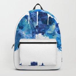Hartford Connecticut Skyline Blue Backpack