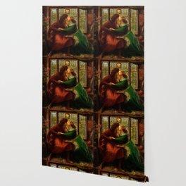 """Dante Gabriel Rossetti """"Paolo and Francesca da Rimini"""" Wallpaper"""