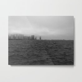 misty windy city Metal Print