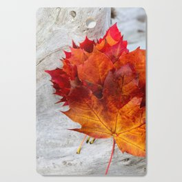 Autumn Leaves on Driftwood Cutting Board