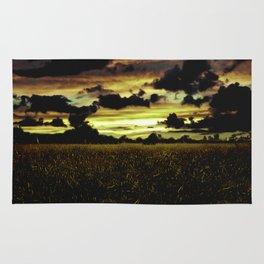 Dark Meadow Landscape  Rug