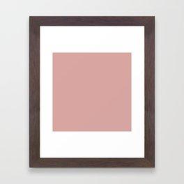 Rose Blush D9A6A1 Framed Art Print