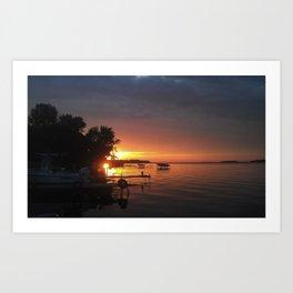 NY sunset Art Print
