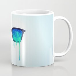 Psychedelic Nerd Glasses with Melting LSD/Trippy Color Triangles Coffee Mug