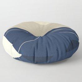 Minimal Abstract Art Landscape Floor Pillow