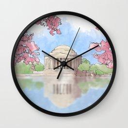 Cherry Blossom - Jefferson Memorial Wall Clock
