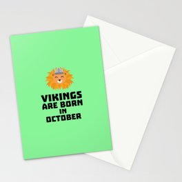 Vikings are born in October T-Shirt D0v8r Stationery Cards