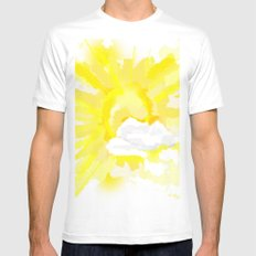 Weather forecast White Mens Fitted Tee MEDIUM