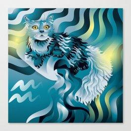aquarius ZodiaCat Canvas Print