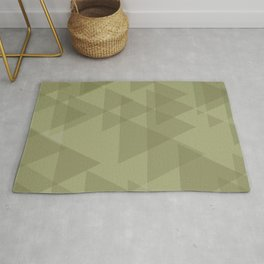 Sand triangles in the intersection and overlay. Rug