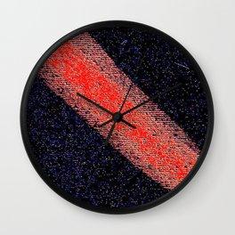Red black ing Wall Clock