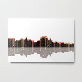 Augusta, Maine Skyline BW Metal Print