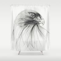 hawk Shower Curtains featuring HAWK by lints