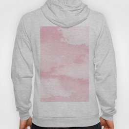 Girly blush pink white pastel color modern clouds pattern Hoody