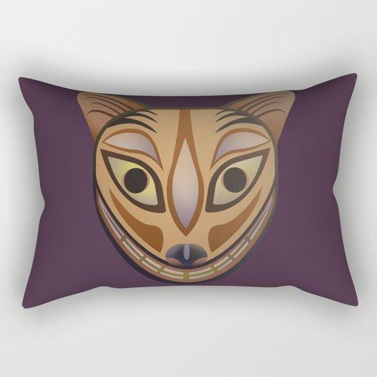 Feline tribal mask Rectangular Pillow