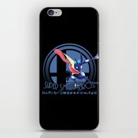 super smash bros iPhone & iPod Skins featuring Greninja - Super Smash Bros. by Donkey Inferno