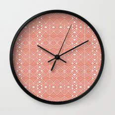 Aztec Coral Wall Clock