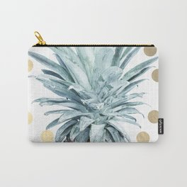 Pineapple crown - gold confetti Carry-All Pouch